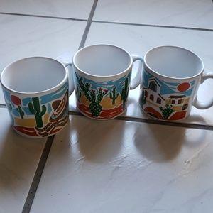 "New rare ""desert"" themed coffee mugs(3)"